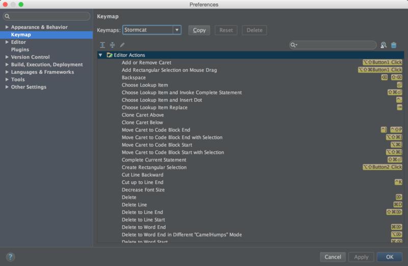 IntelliJ IDEAのキーバインド設定をAppCodeでも共有しようと